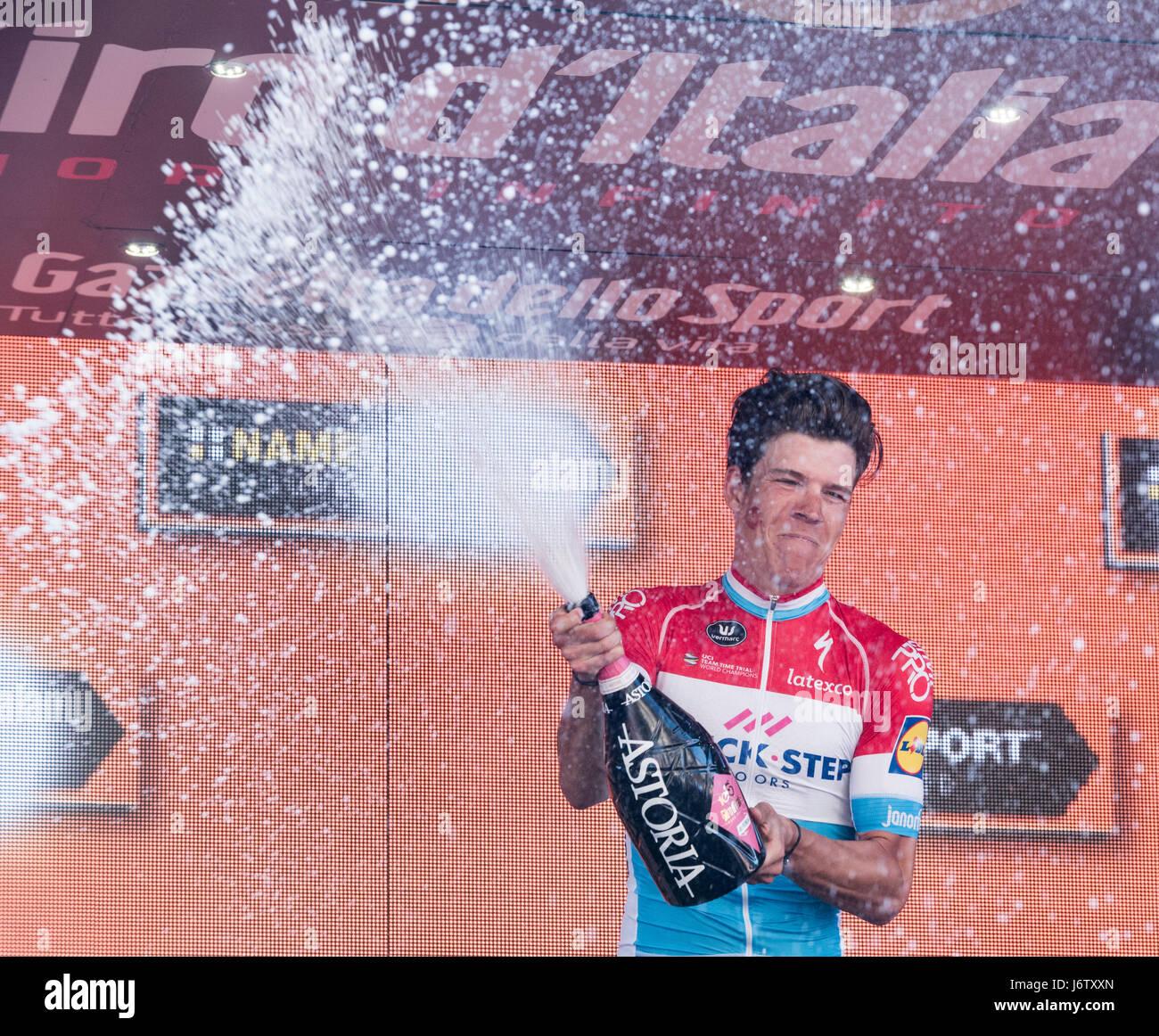 Bérgamo, 21 de mayo de 2017, Italia etapa del Giro d'Italia 14 Imagen De Stock