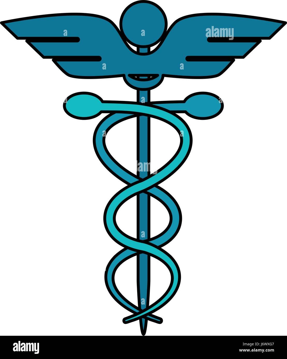 Color De Dibujos Animados Imagen Símbolo De Salud Con