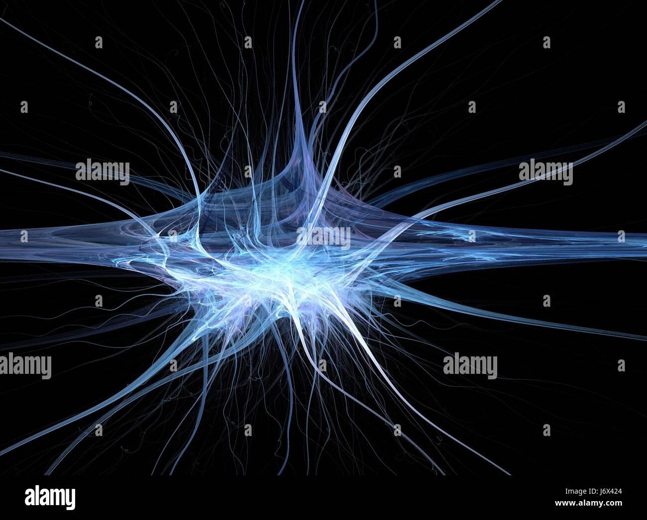 El caos de células nerviosas cerebrales anatomía fractal abstracto ...