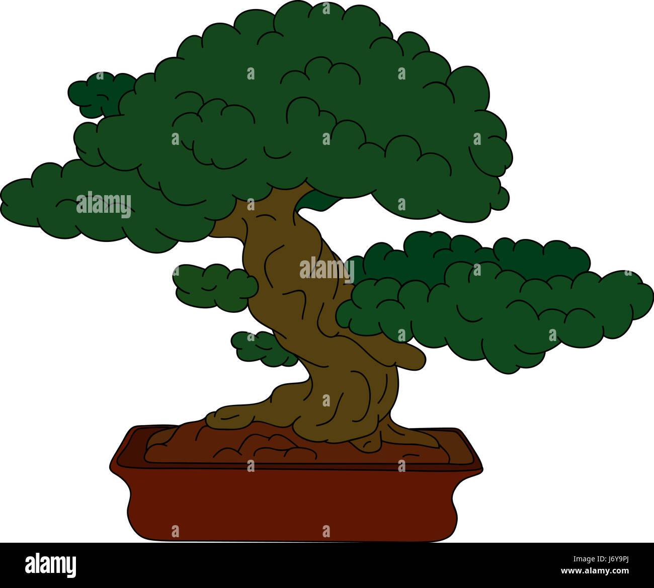 Ilustración De árbol Hermoso Color De Pintura Dibujar Caricaturas