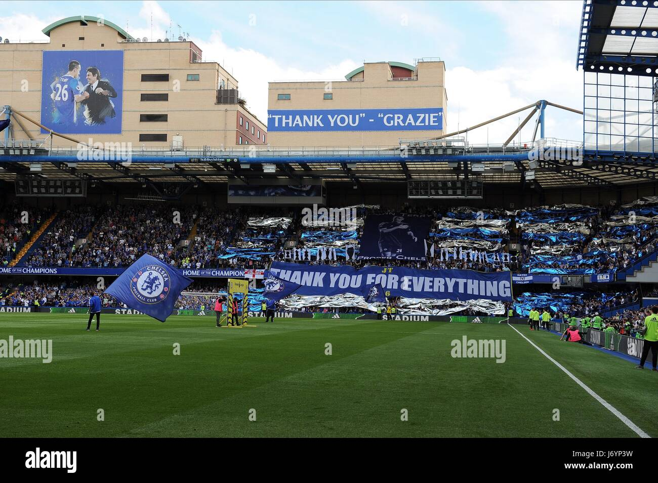 El Chelsea aficionados dicen adiós CHELSEA V SUNDERLAND Stamford Bridge Stadium de Londres, Inglaterra el 21 Imagen De Stock