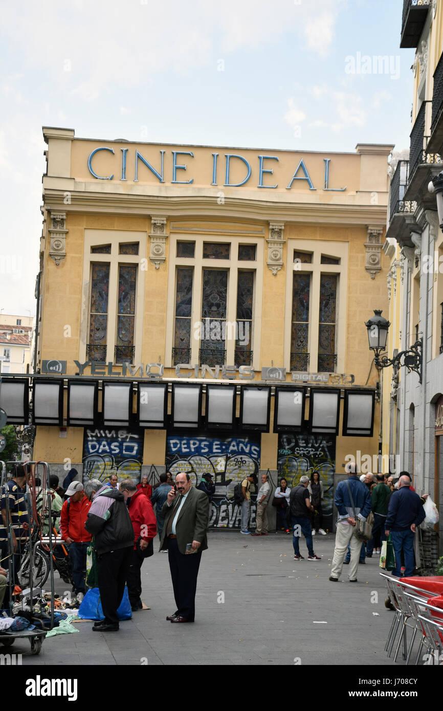 Cine Ideal, Madrid, España Imagen De Stock