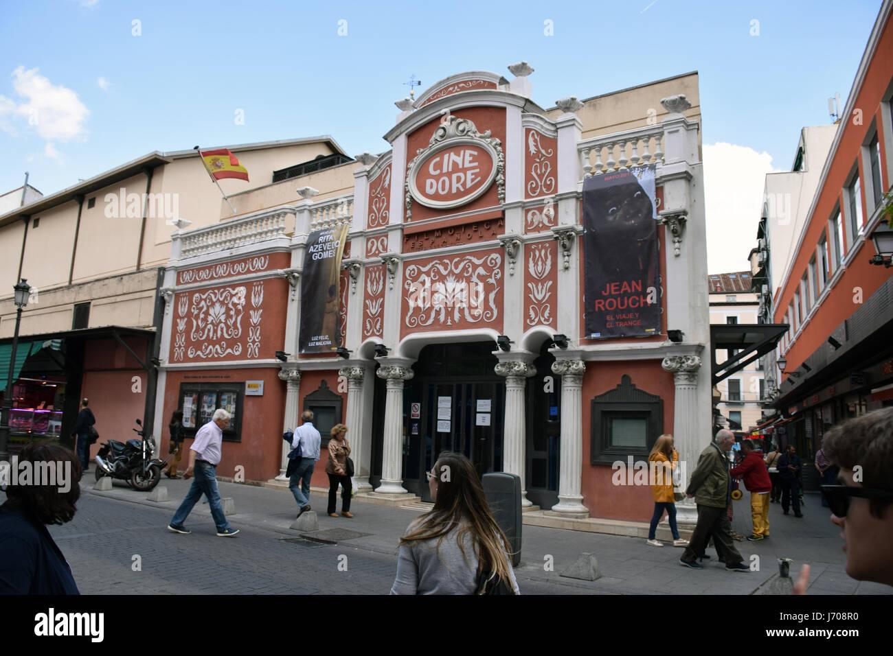 Cine Doré, el cine más antiguo de Madrid, que datan de 1922, España Imagen De Stock