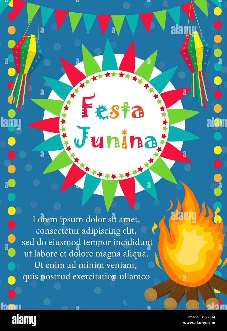 Festa Junina Tarjeta De Felicitación Invitación Póster