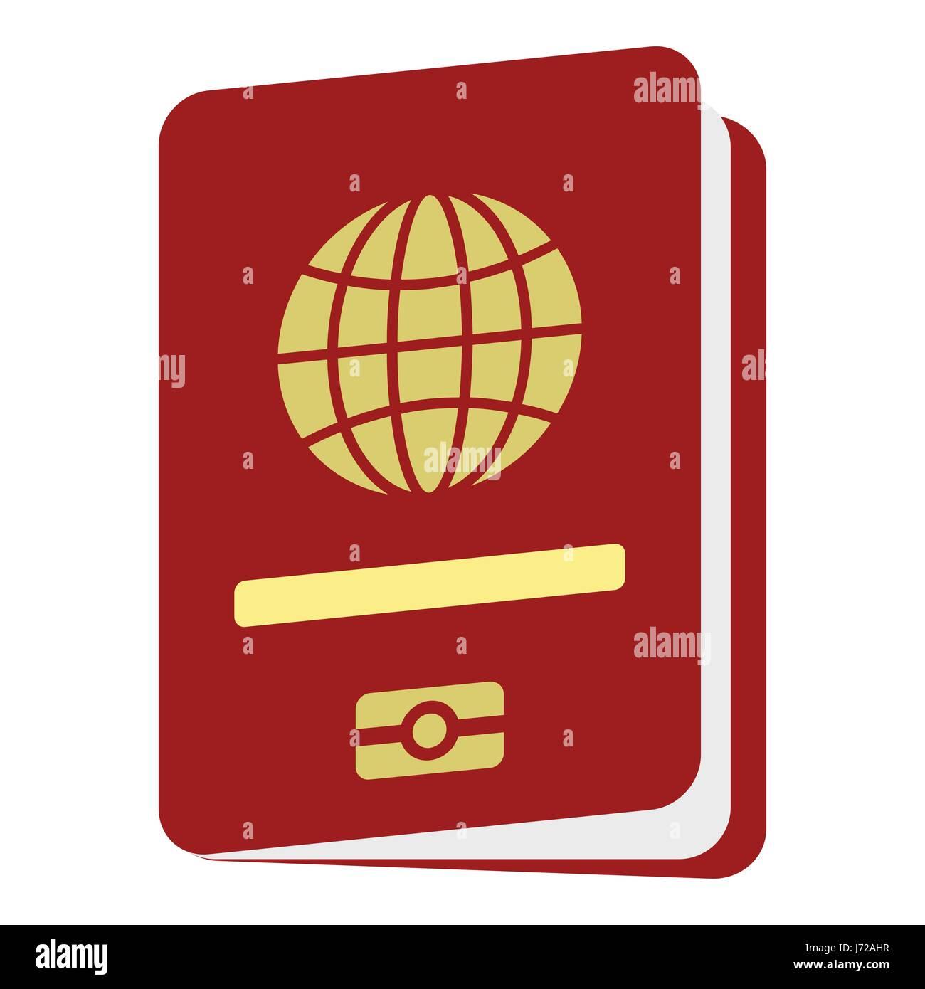 Icono De Pasaporte Tipo Plano Ilustración Del Vector Imagen