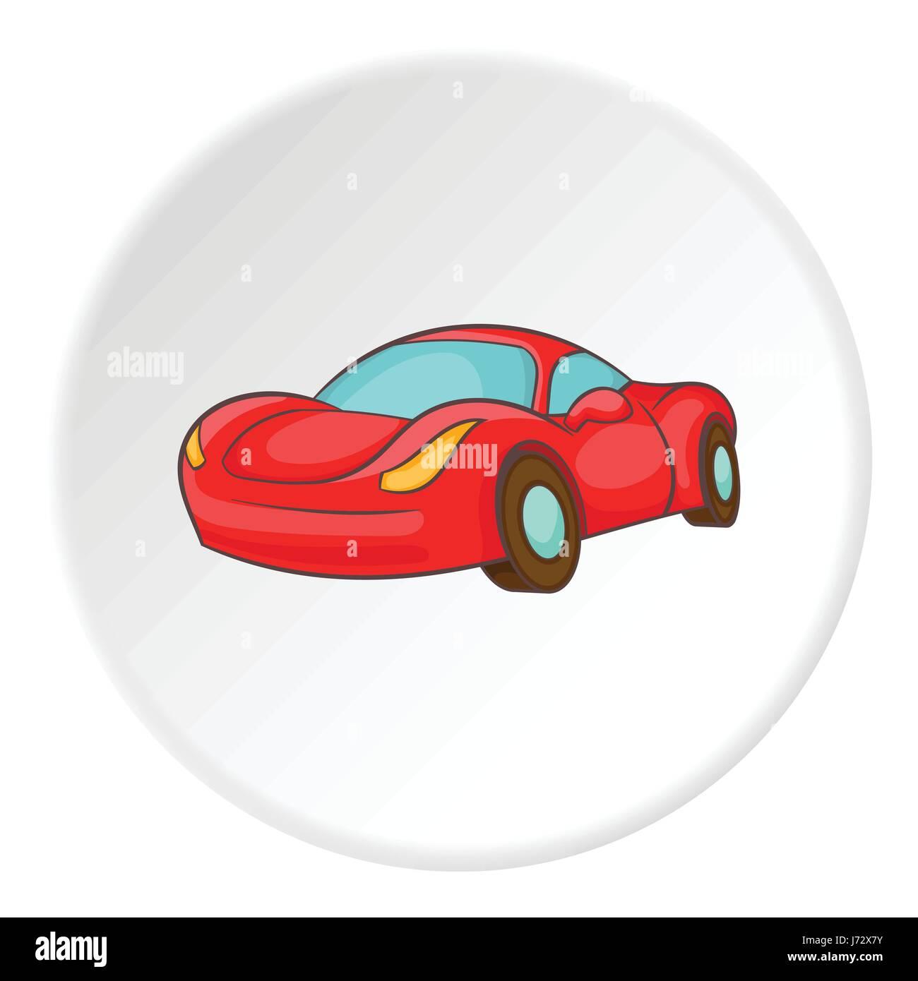 Icono De Autos De Carrera Estilo De Dibujos Animados Ilustracion