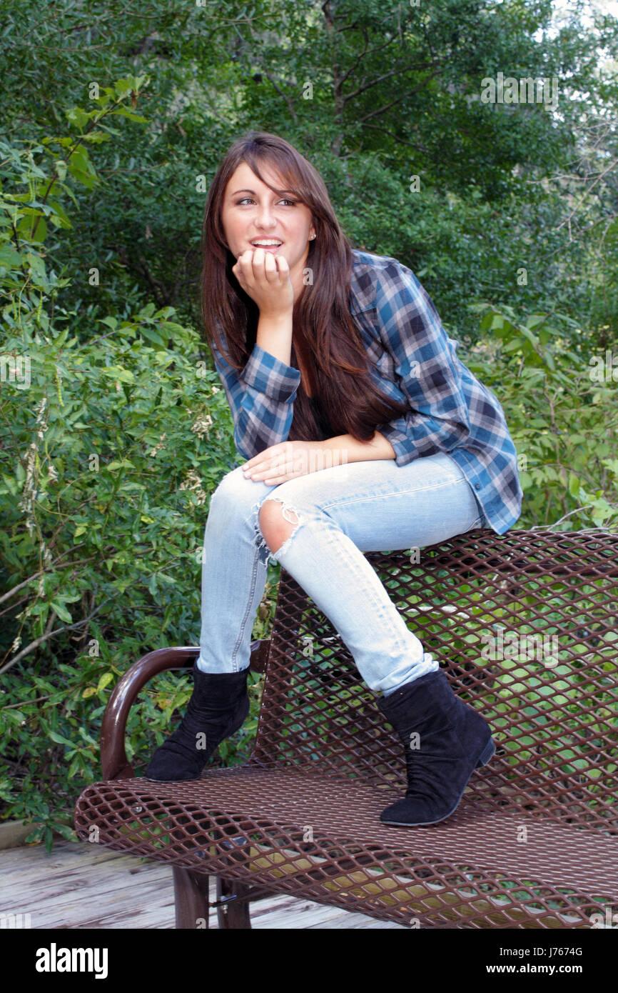 La Moda Femenina Pantalones Vaqueros Pantalones Jean Adolescente Juvenil Casual De Capa Fotografia De Stock Alamy
