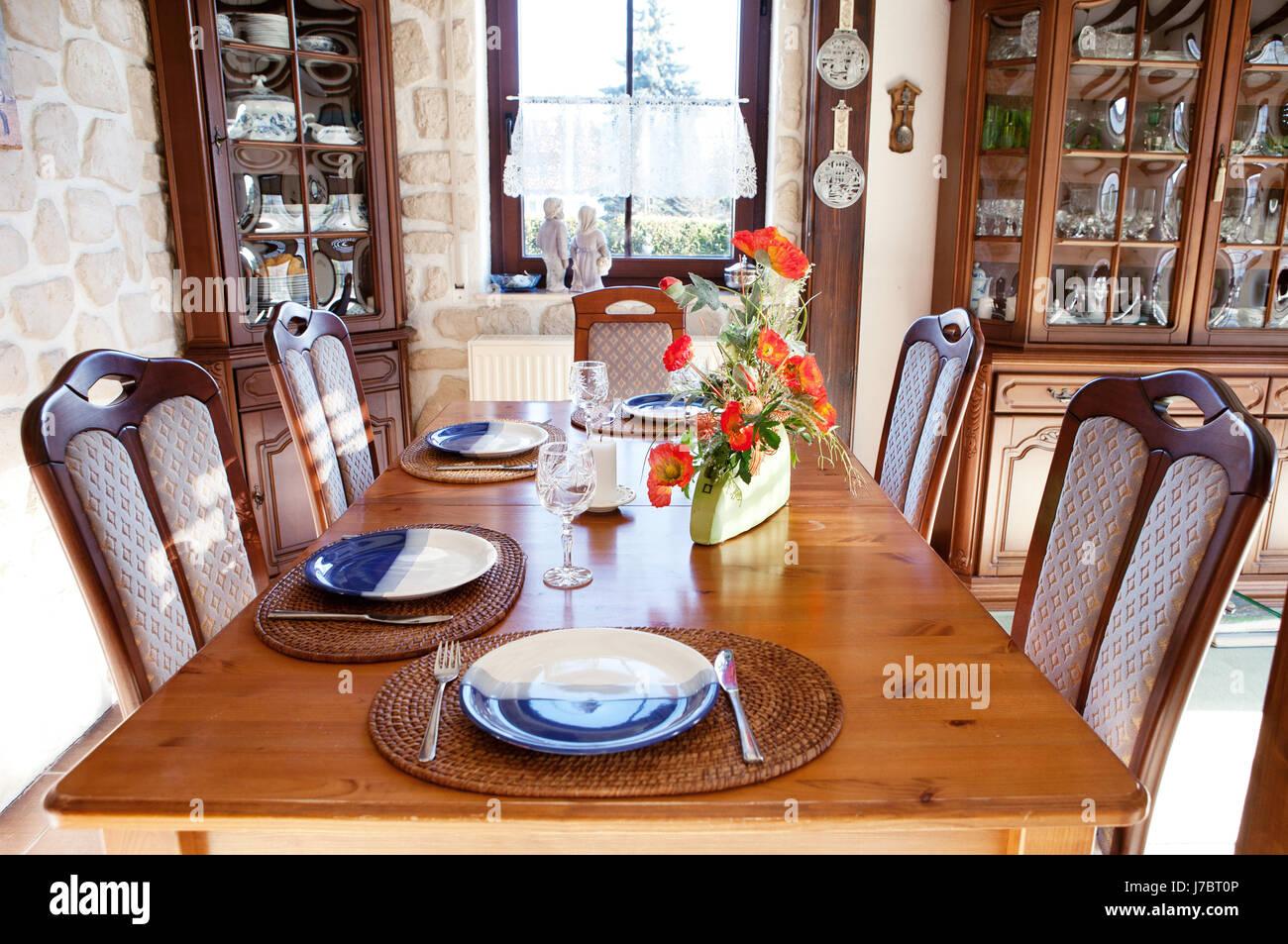 Decoración cubiertos rustical mesa de comedor rústico ...