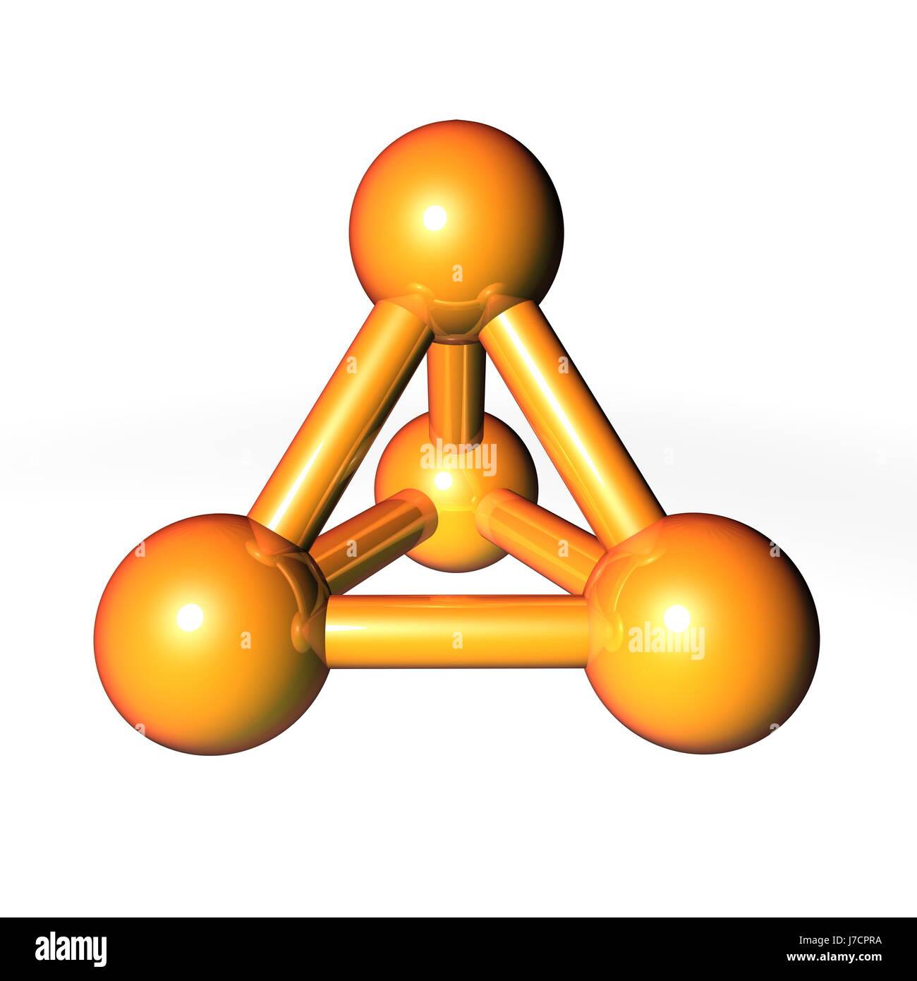 Pirámide Dorada Atom Estructura Matricial Educación Salud
