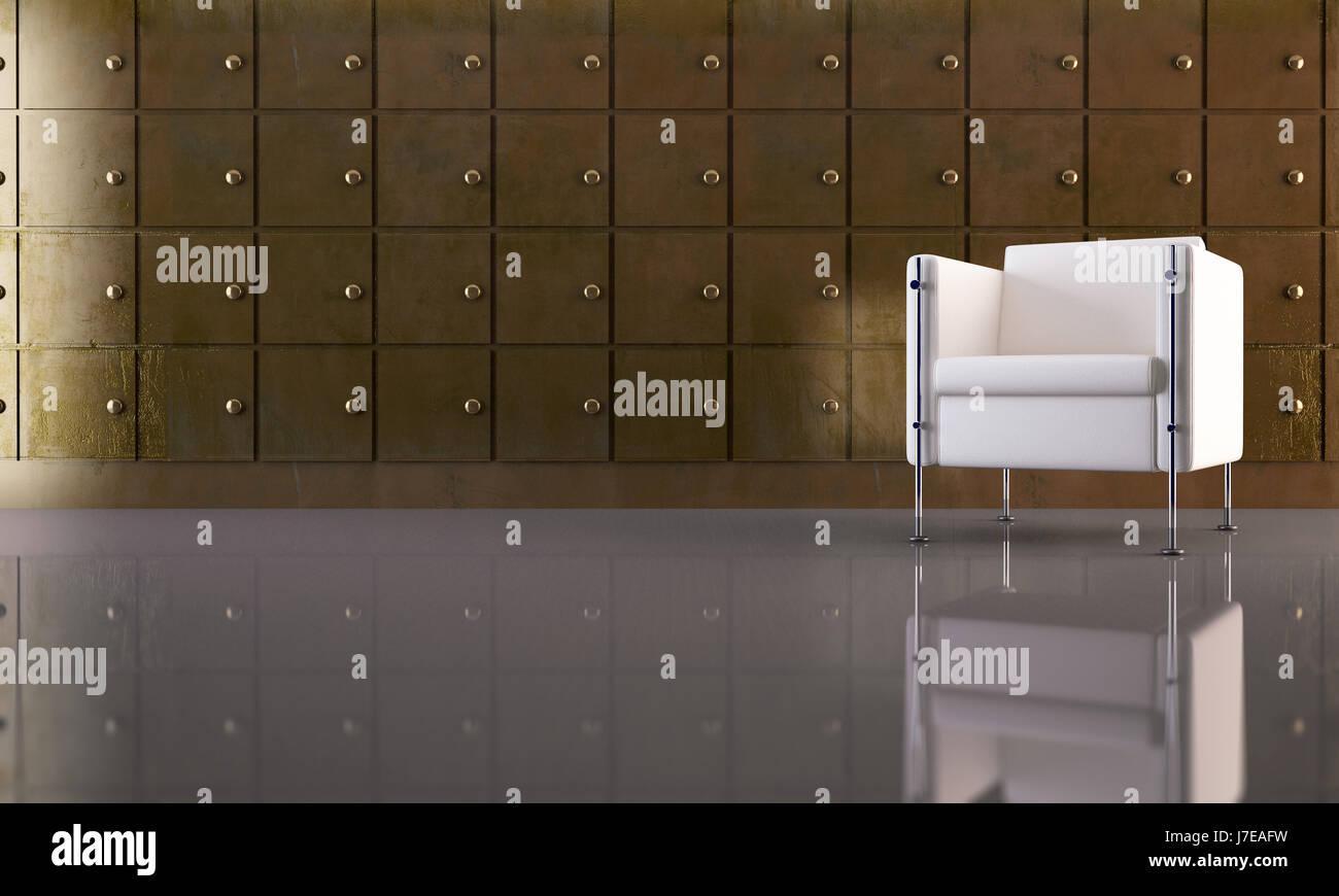 Muebles de salón asiento interior banco ingresos ilustración hotel ...