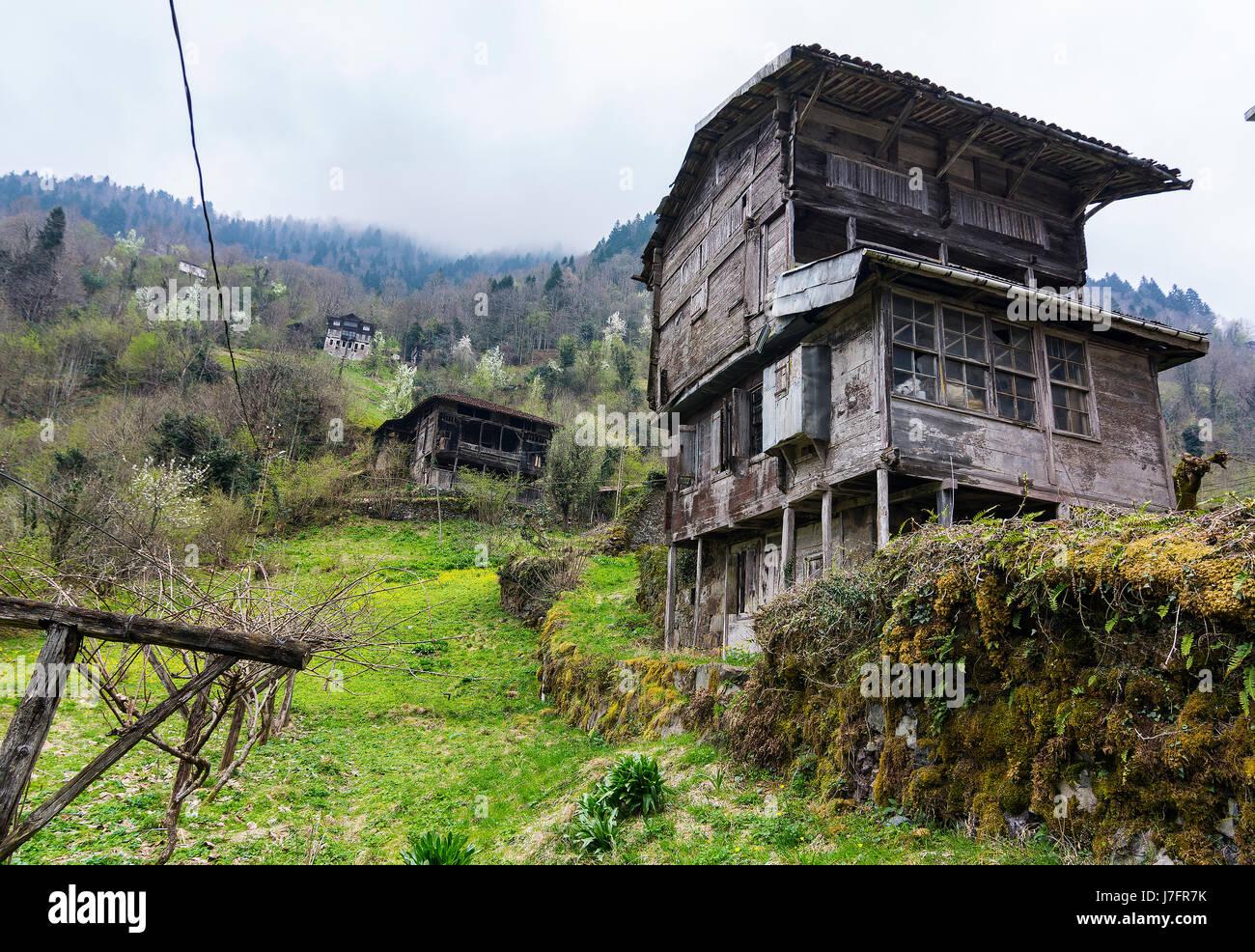 Highland casas en el mar negro Foto de stock