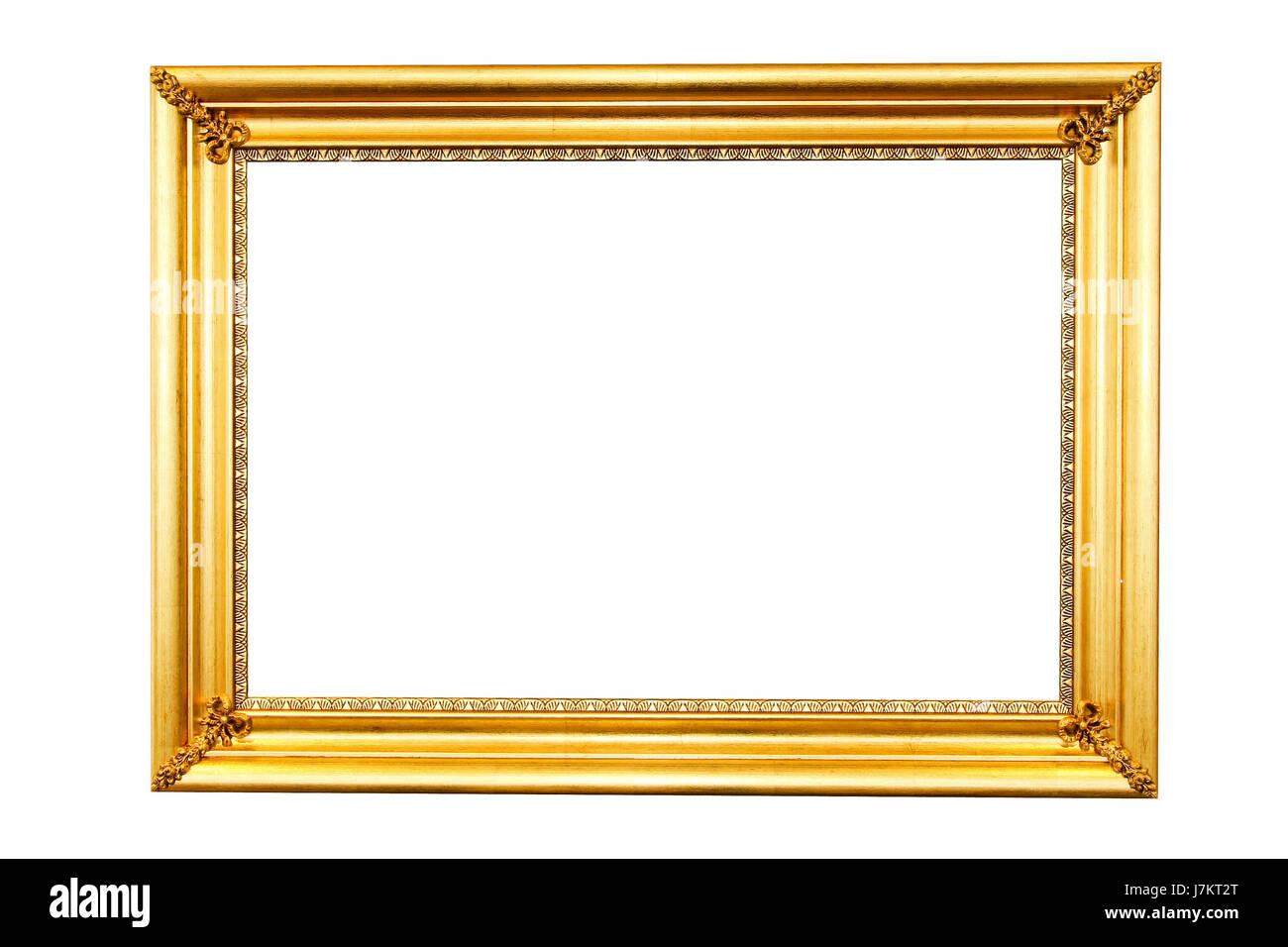 Marco dorado marco de oro aislado border art fotos vintage antiguos ...