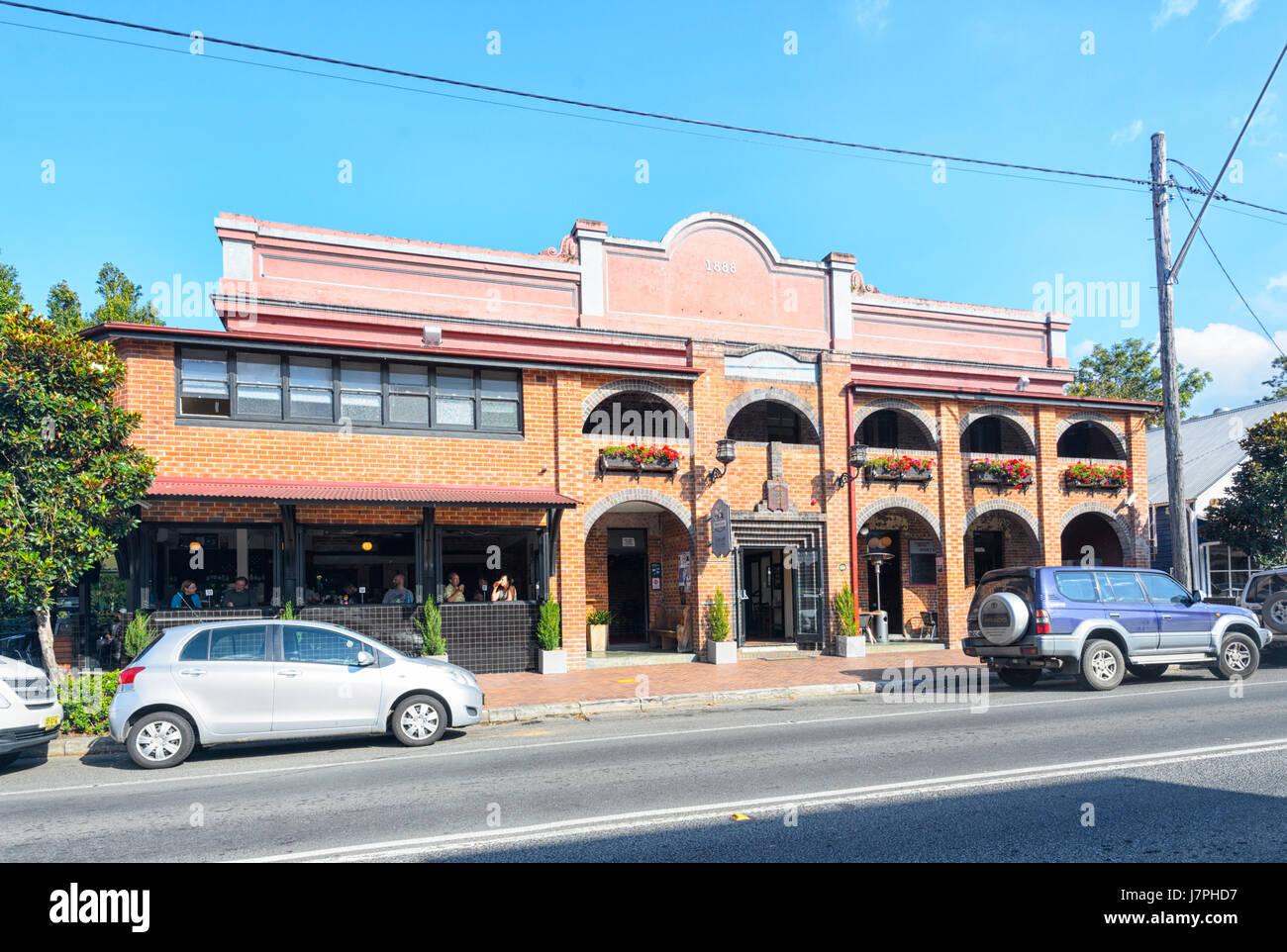 Berry Hotel, restaurante y alojamiento, en 1888, Berry, Nueva Gales del Sur (NSW, Australia Imagen De Stock