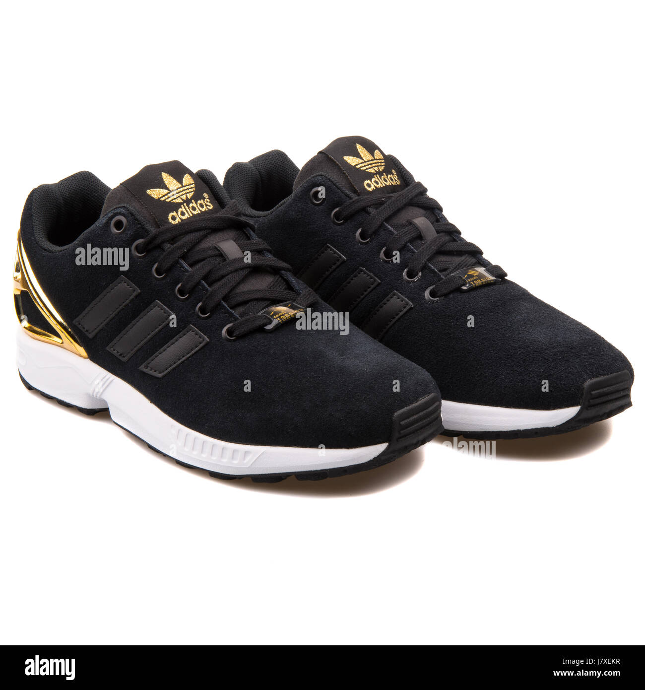 premium selection 27508 3947b adidas zx flux mujer negro y oro