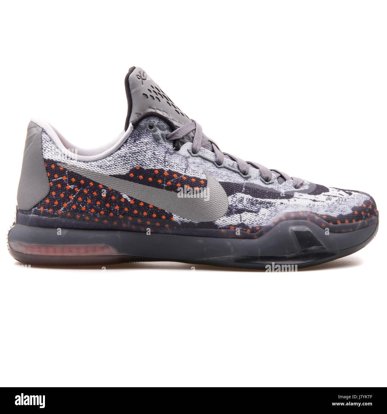 official photos b074d 1779f Nike Kobe X gris rojo zapatillas de baloncesto de los hombres - 705317-001
