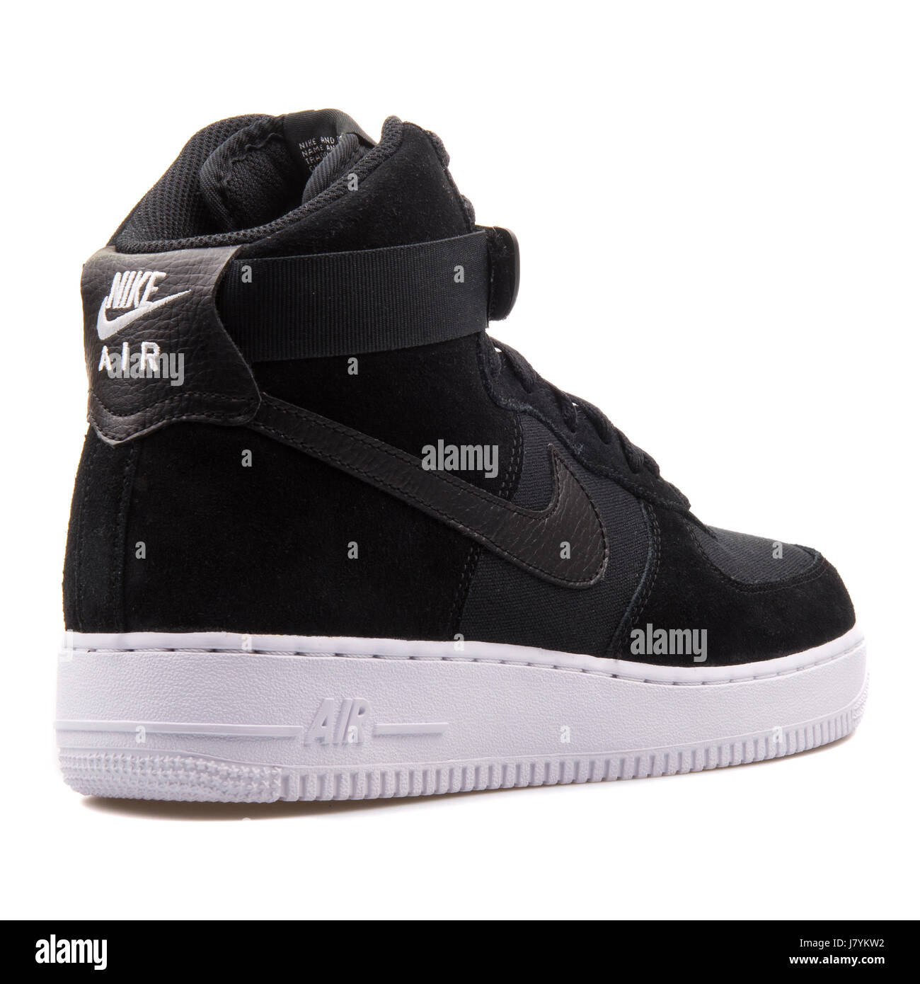huge discount f9517 28490 Nike Air Force 1 Alto  07 hombres negros Leather Sneakers - 315121-033  Imagen