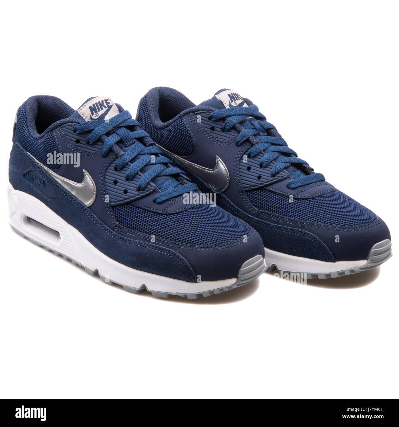 106a90deadc Nike Air Max 90 hombres azules esenciales zapatillas deportivas - 537384-411