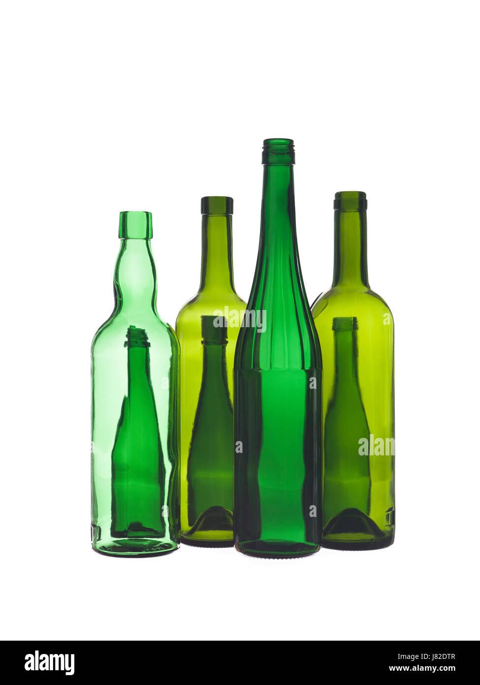 Cáliz de vidrio tumbler medio ambiente Medio ambiente formación art studio botellas de formas Foto de stock