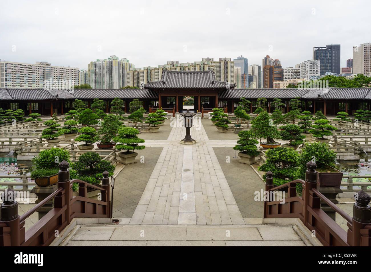 Chi Lin Nunnery en Hong Kong Foto de stock