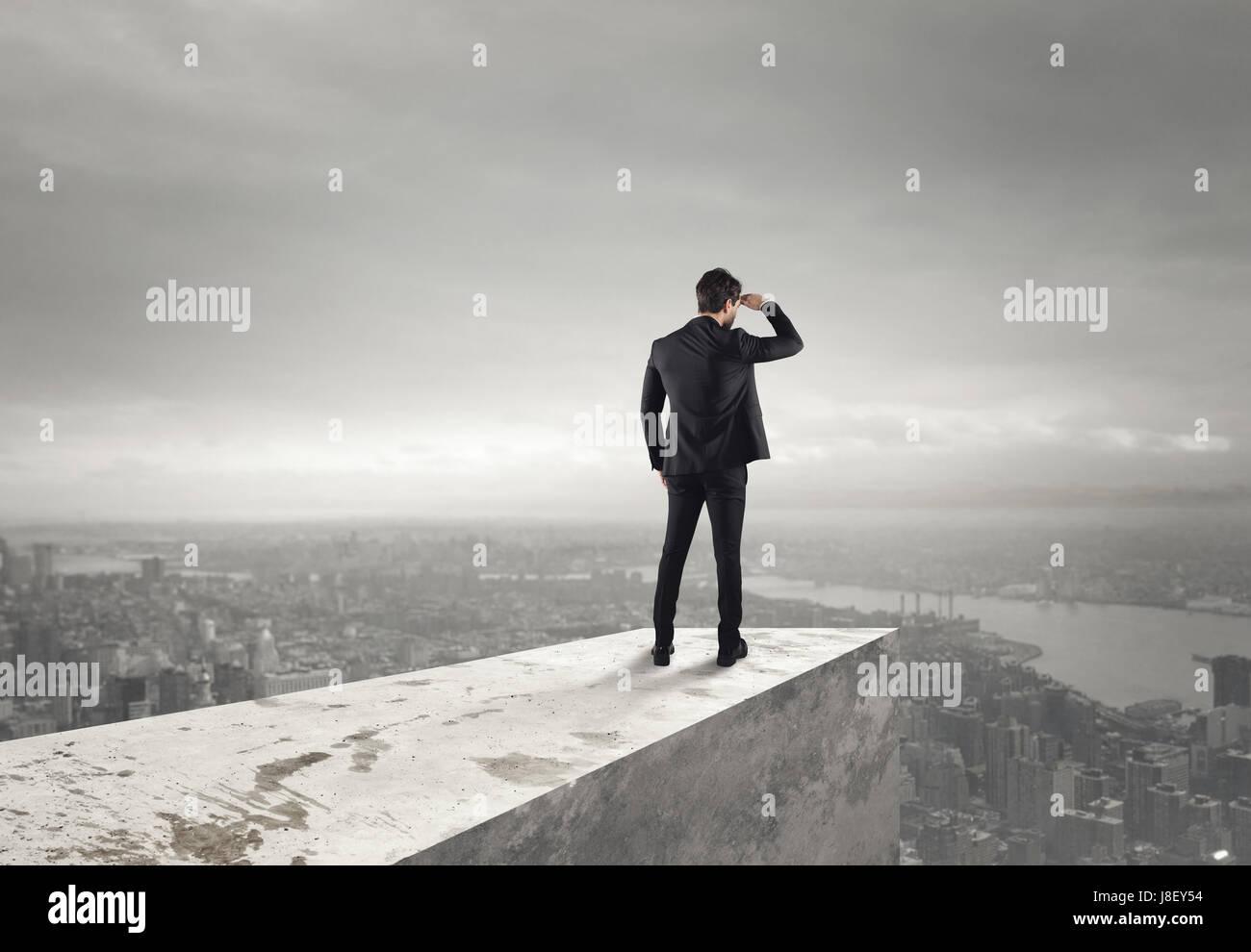 Mirar hacia el futuro Imagen De Stock