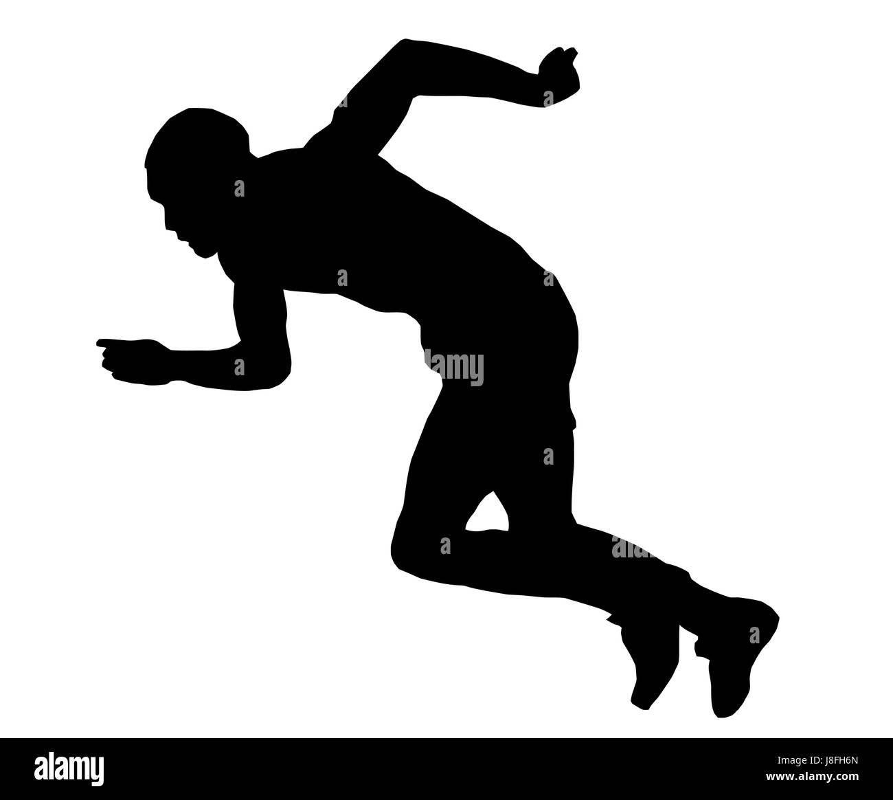 Distancia, pequeño, pequeño, pequeño, corto, atletismo, Sprint, sport, deportes, ejecutar Foto de stock
