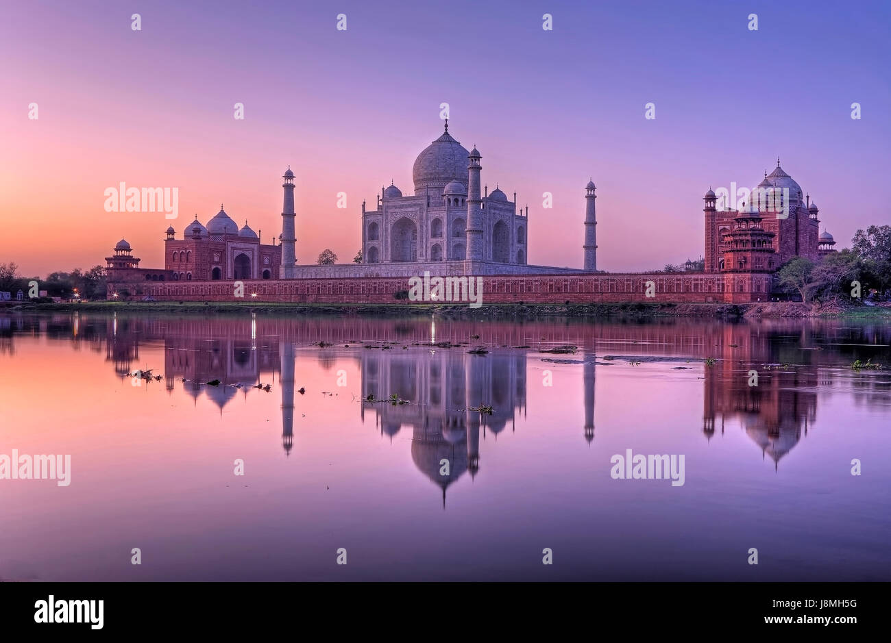 Taj Mahal, Agra, Uttar Pradesh, India. Foto de stock