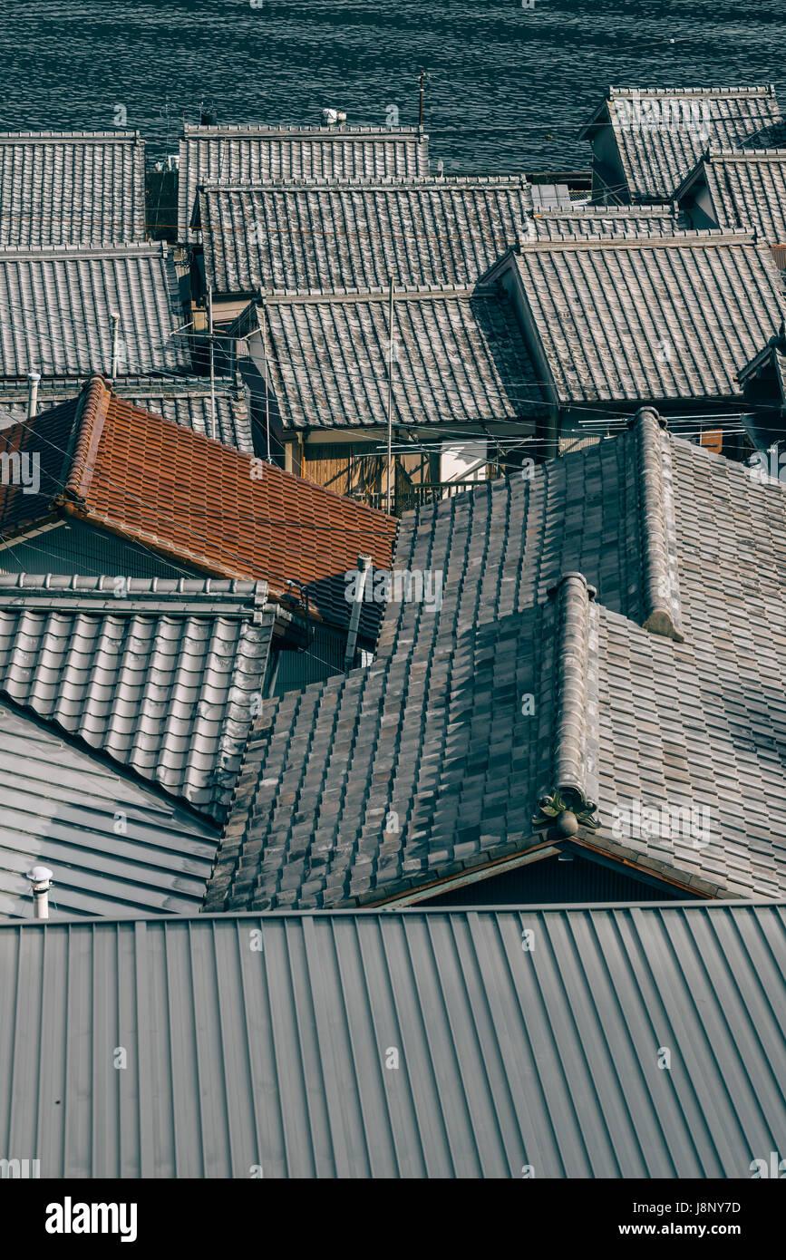 Tejados de teja Foto de stock