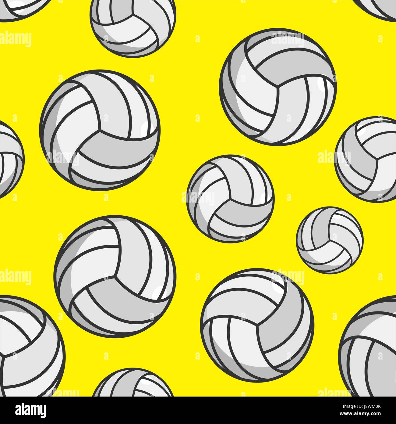 Voleibol patrón sin fisuras. Ornamento de accesorios deportivos.  Antecedentes de voleibol. La textura e8823072cbc01