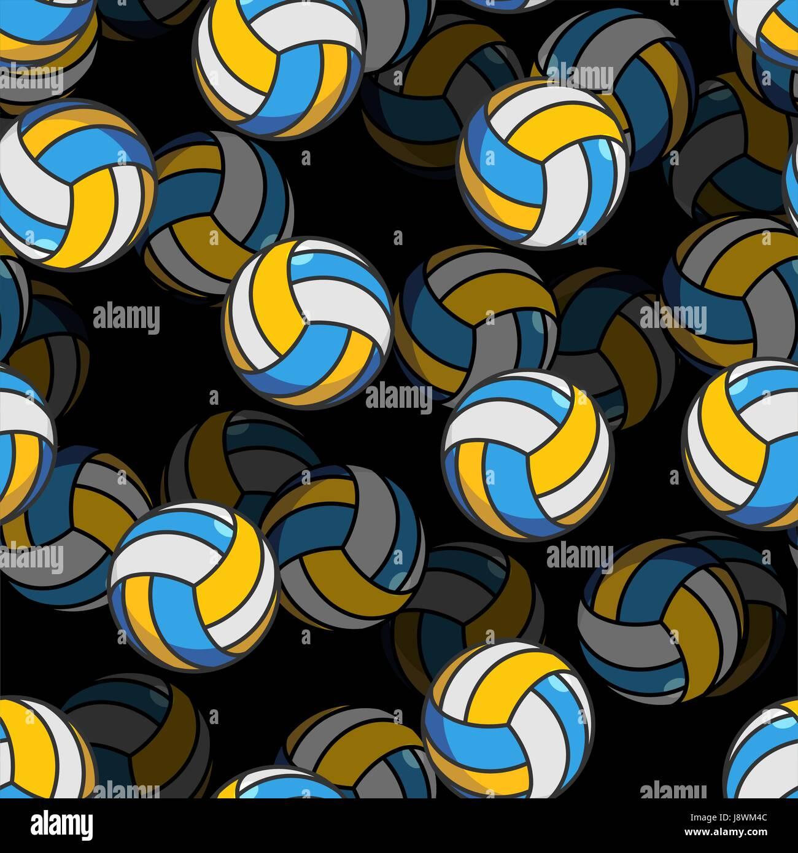 Voleibol 3d patrón sin fisuras. Ornamento de accesorios deportivos. Voleibol  voluminoso fondo. La ce95a73889410