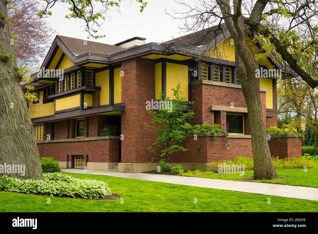 Chicago Illinois En Oak Park Forest Avenue Era Del