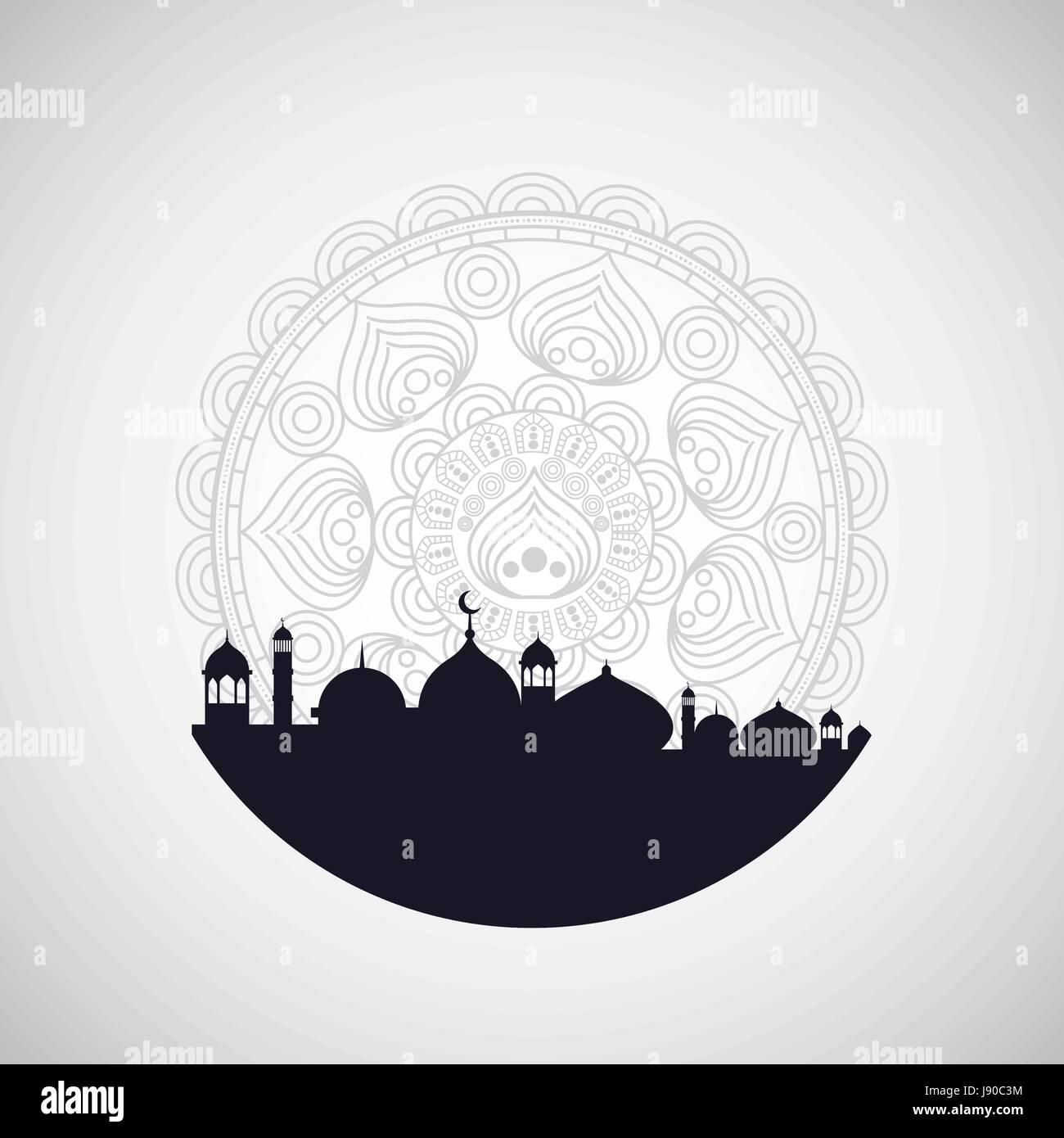 Eid mubarak antecedentes Ilustración del Vector