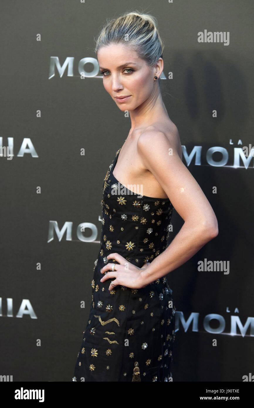 """Madrid, España. 29 Mayo, 2017. Annabelle Wallis asiste a """"La Momia"""" estreno en el Cine Callao el Imagen De Stock"""