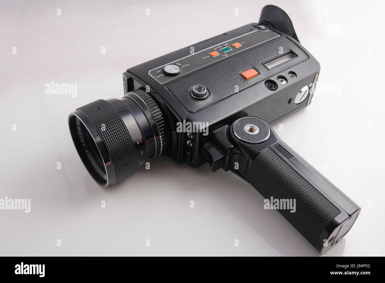 Cámara de cine, cine, cine, películas, mala película, cámara de vídeo, análogo, Imagen De Stock