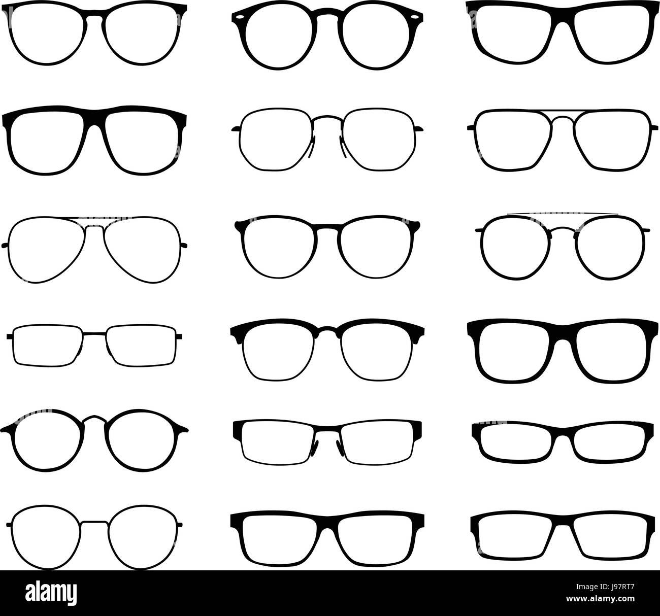 Monocromo gafas para la vista con un cristal transparente en un ...