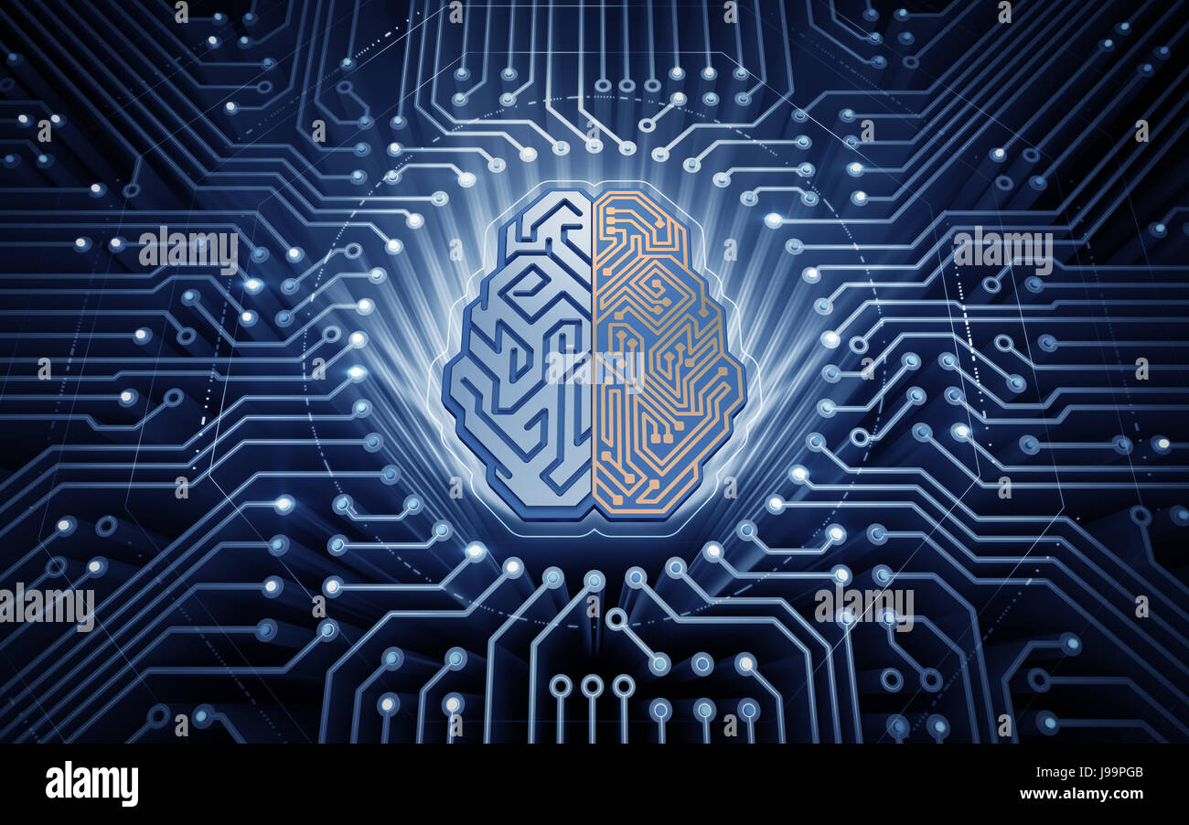 Cerebro cibernético Imagen De Stock