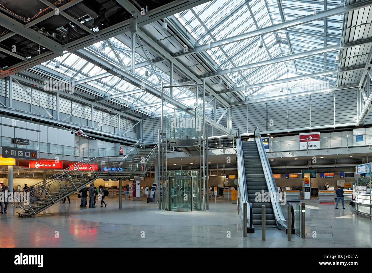 Albrecht Dürer aeropuerto, sala de embarque, Nuremberg, Middle Franconia, Franconia, Baviera, Alemania Imagen De Stock