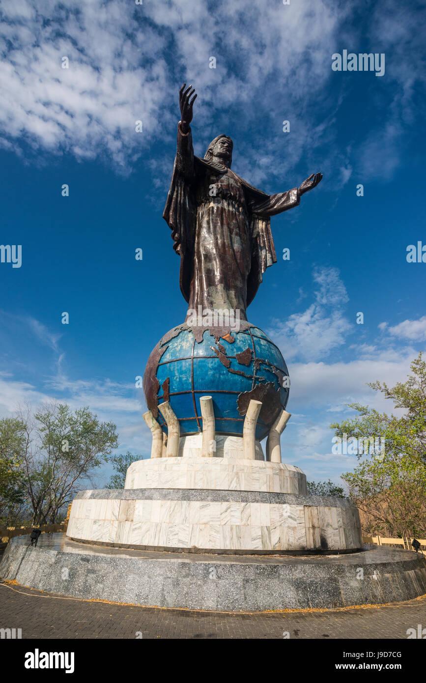 Estatua de Cristo Rei de Dili, Dili, Timor Oriental, Sudeste Asiático, Asia Foto de stock