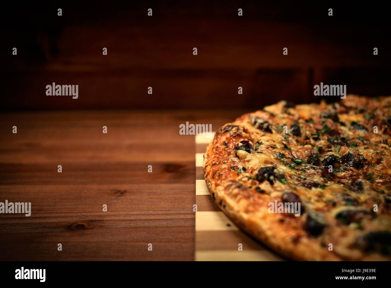 Deliciosa pizza italiana Foto de stock
