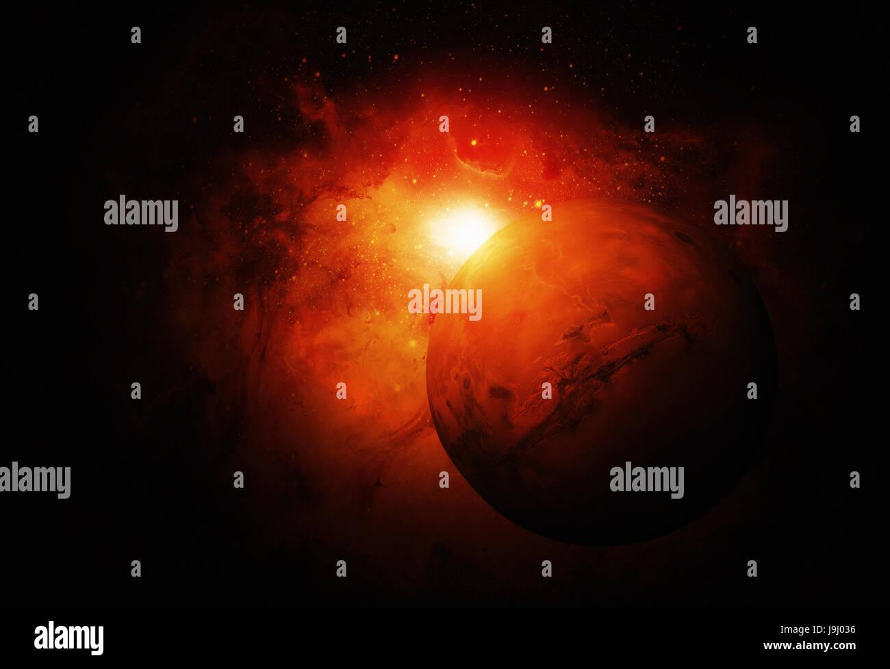 Sistema Solar - Marte. Es el cuarto planeta desde el Sol ...