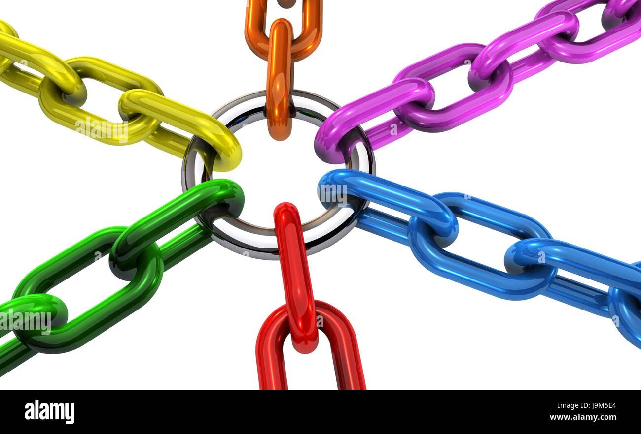 La diversidad y la inclusión de la cooperación y colaboración de equipo empresarial concepto relacionado Imagen De Stock