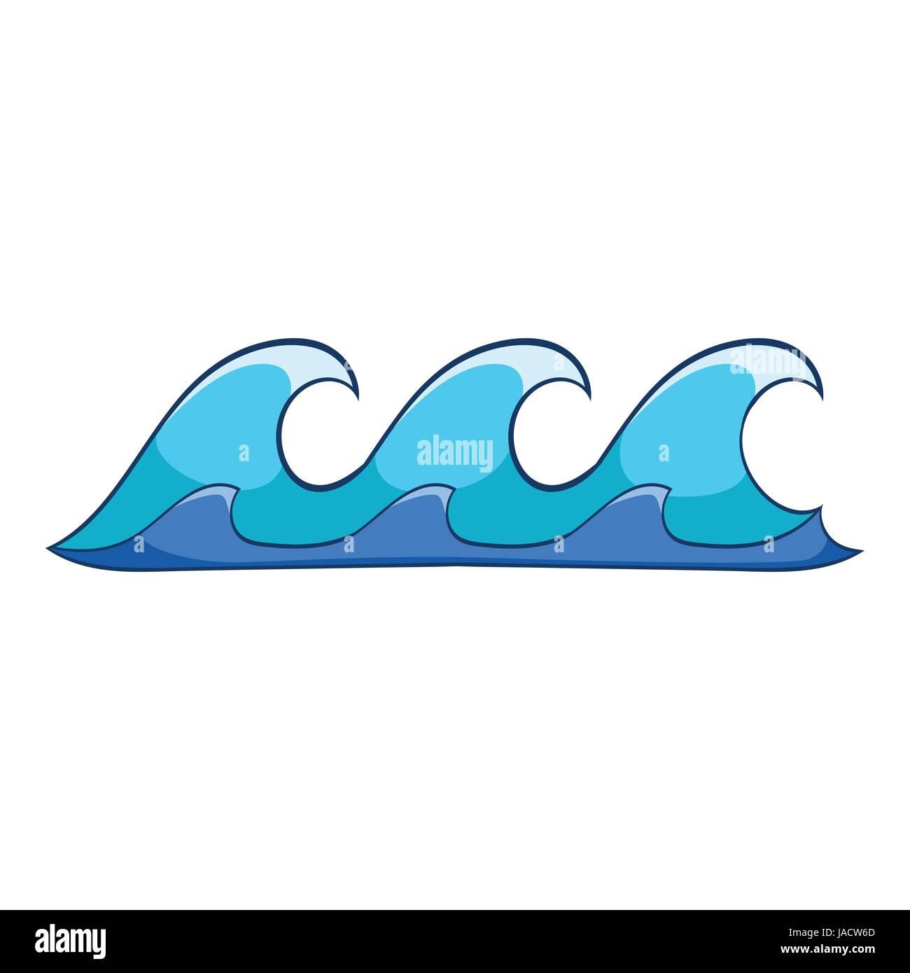 Icono De Olas Pequeñas Ilustración De Dibujos Animados De Olas