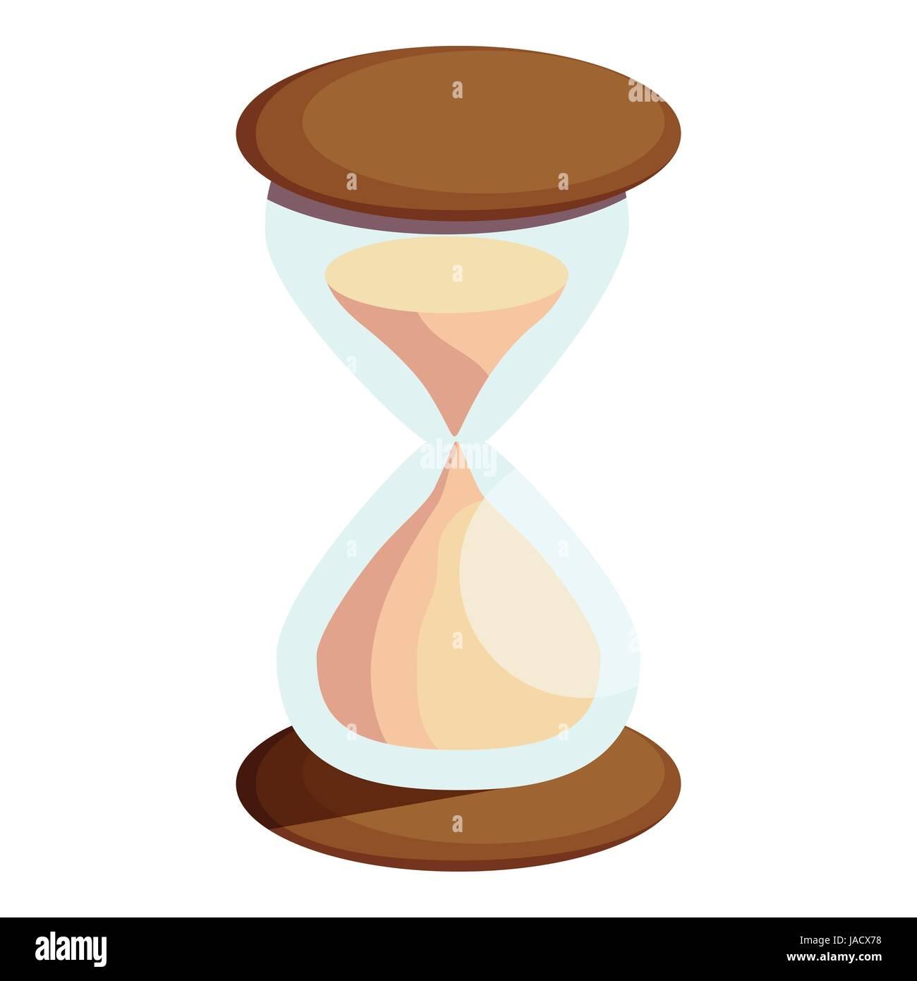 Icono De Reloj De Arena Ilustración Vectorial De Dibujos Animados