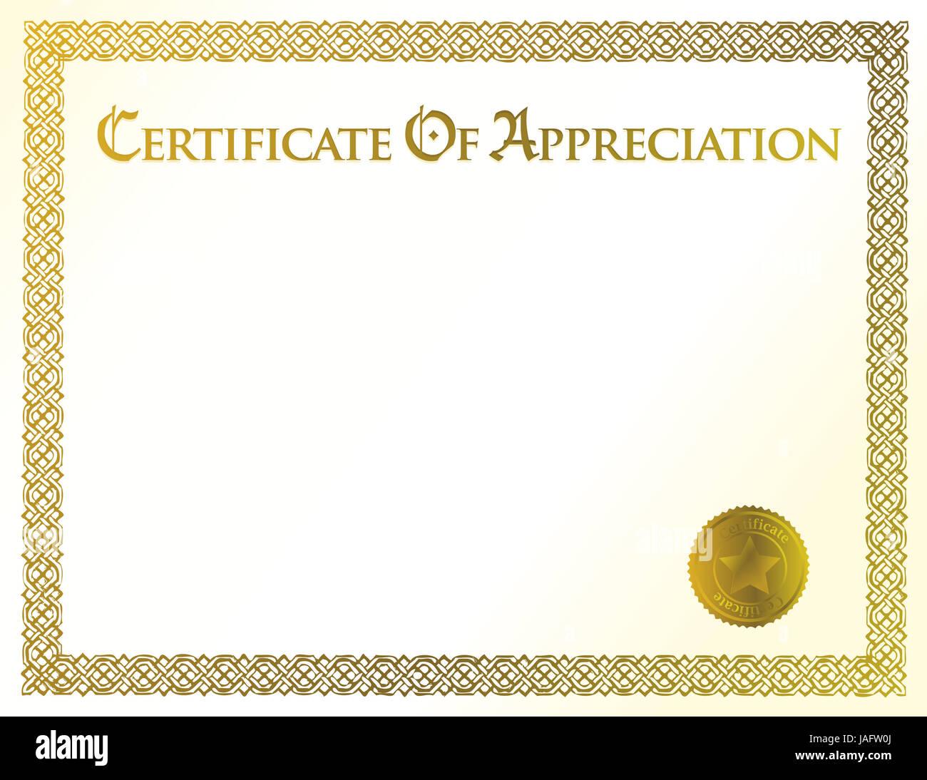 Certificado de Logros ilustración plantilla Foto & Imagen De Stock ...