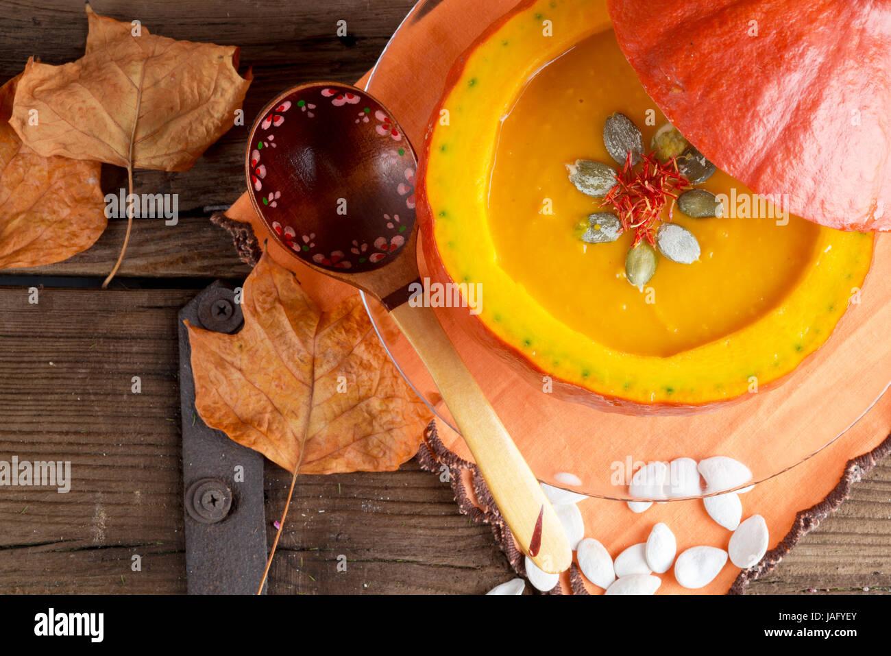 sopa de calabaza Foto de stock