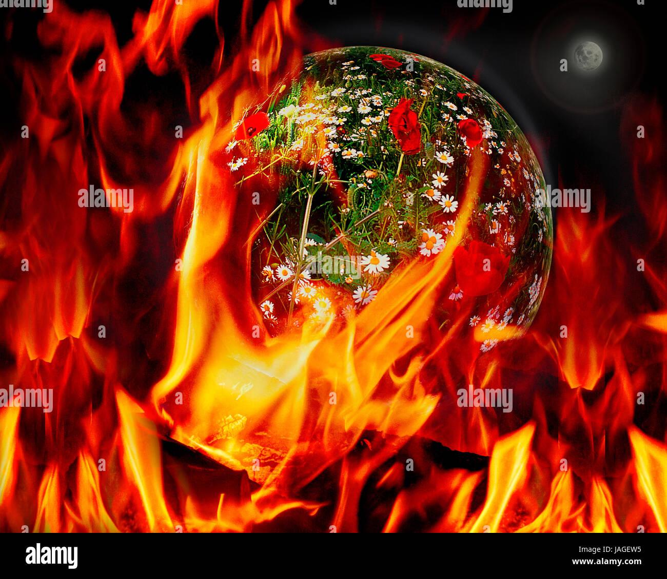 DIGITAL CONCEPT: La destrucción de un planeta Imagen De Stock