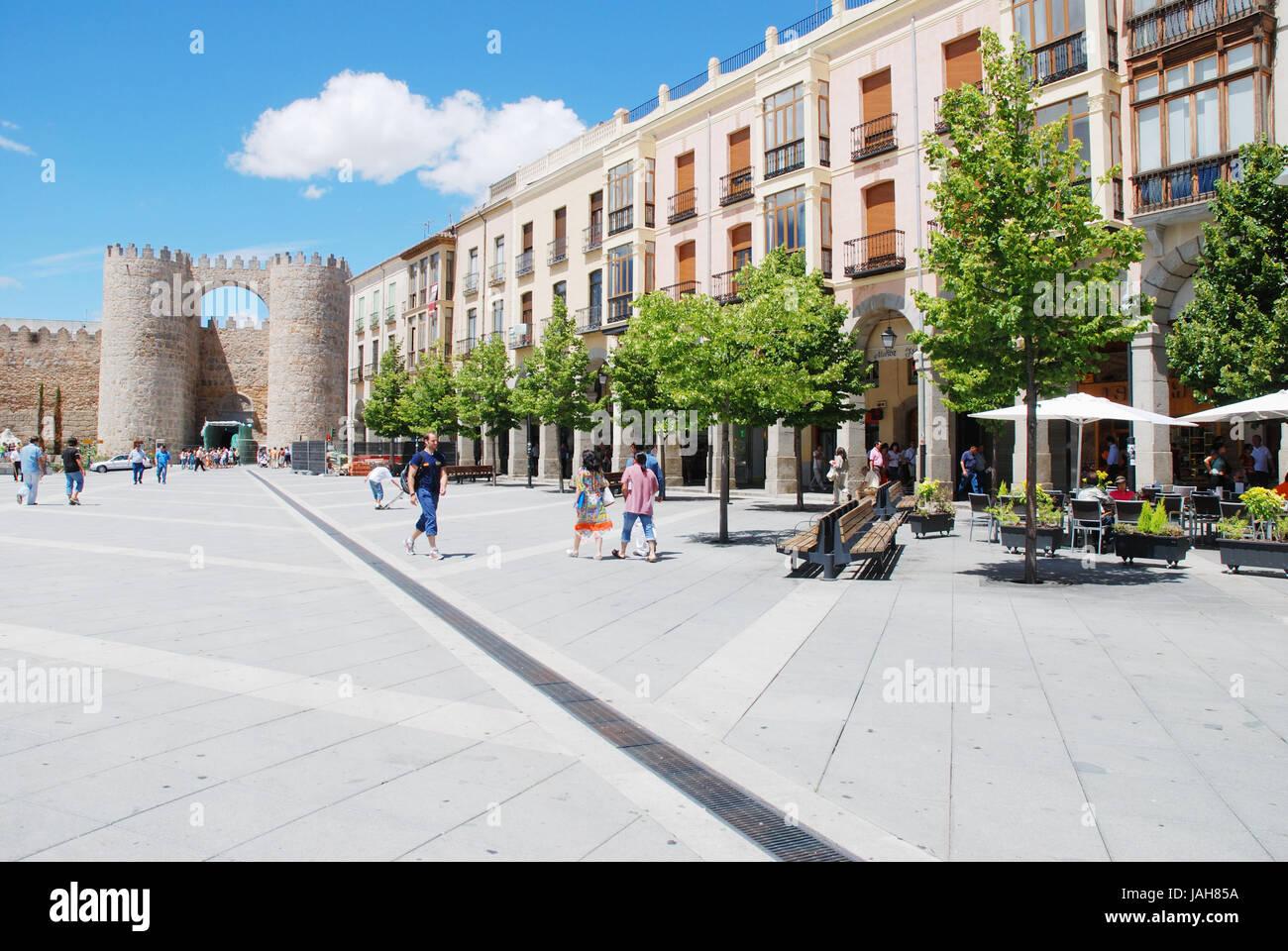 Plaza de Santa Teresa. Ávila, Castilla y León, España. Imagen De Stock