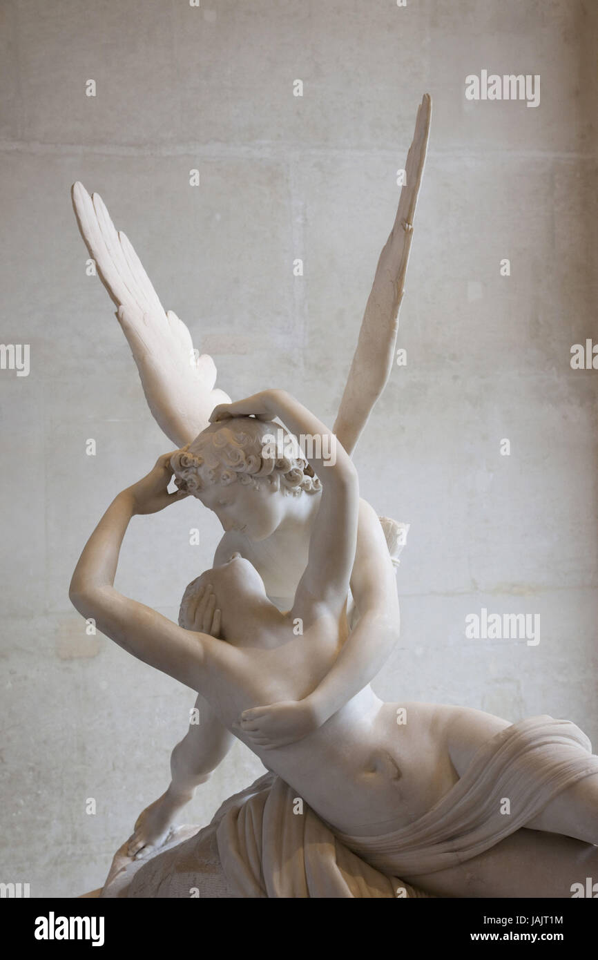 Francia,Paris,Louvre,estatua de