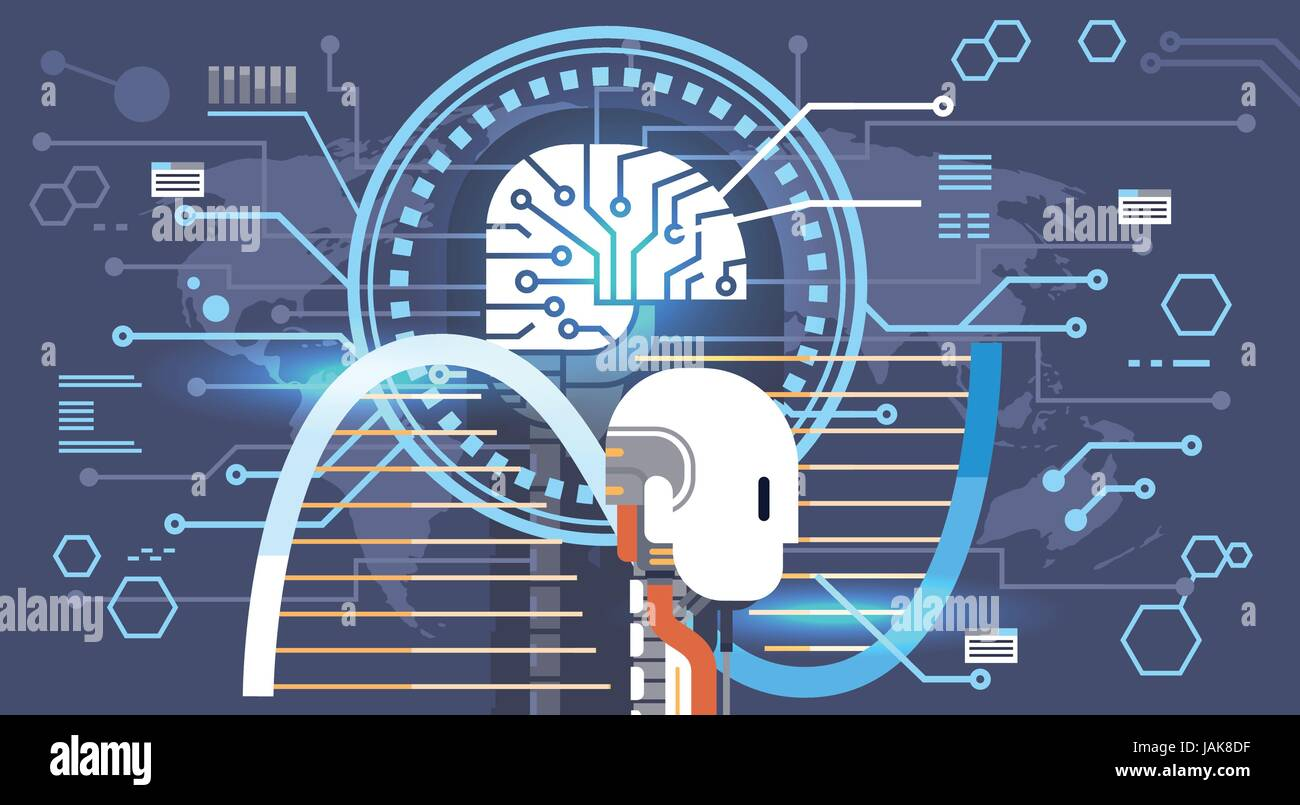 Resumen de actividad de las neuronas del cerebro, Medicina pensamiento inteligente concepto banner Imagen De Stock