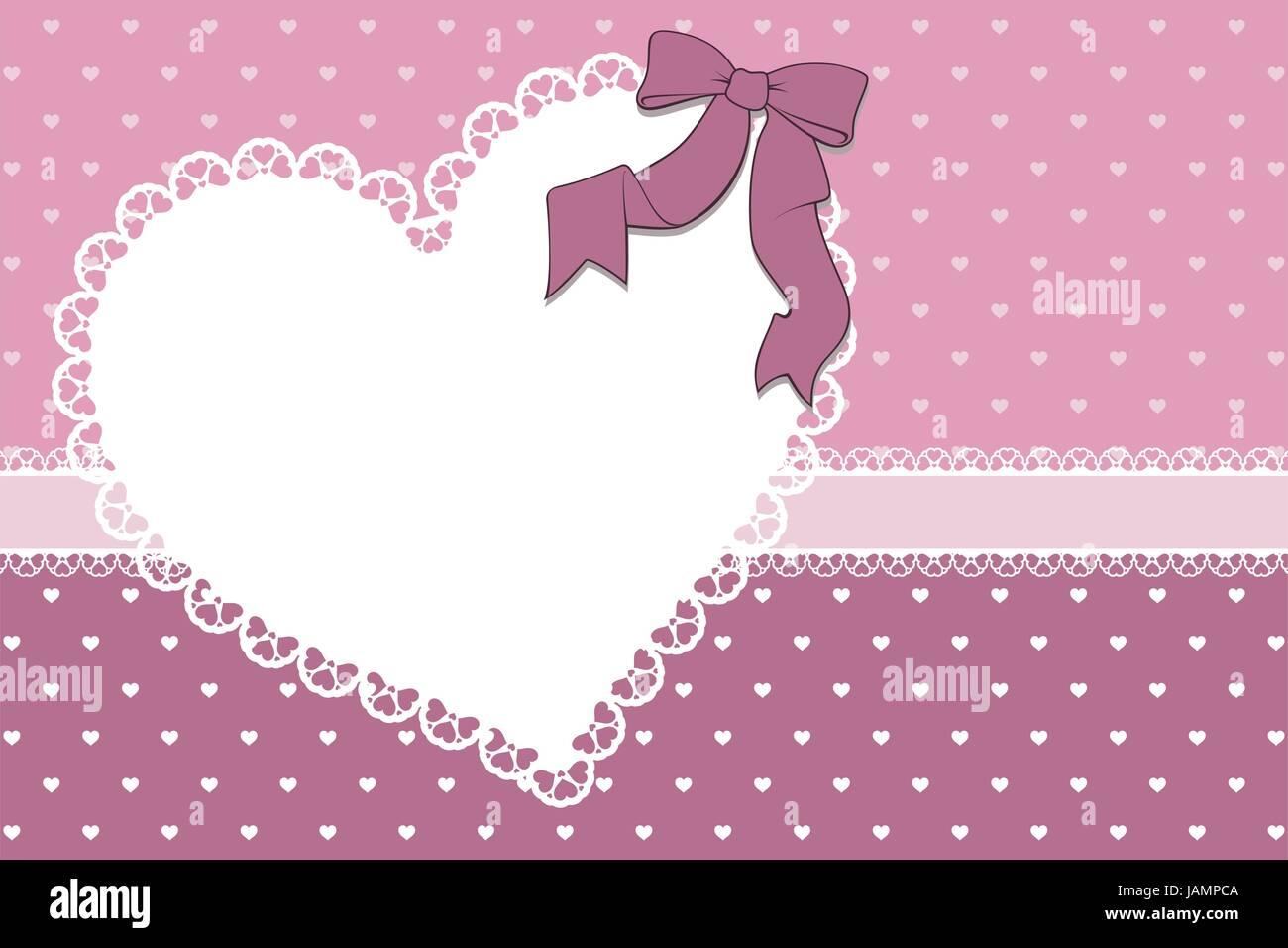 Bastidor en blanco con corazones y la cinta sobre el corazón de ...