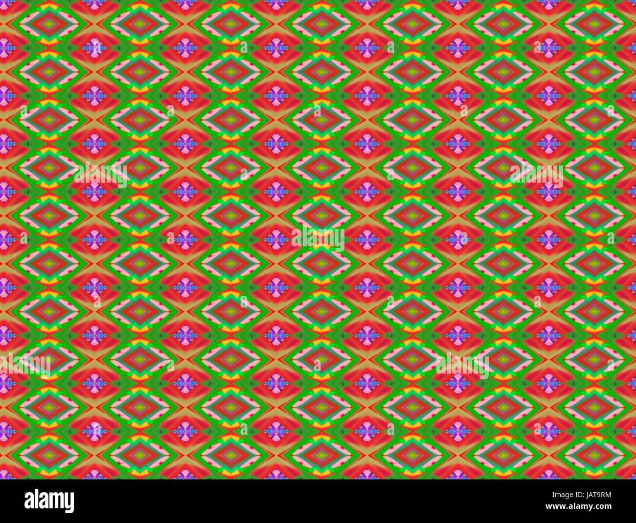 El rojo y el verde la trama de fondo de diamantes Imagen De Stock